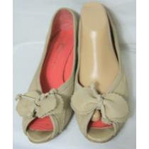 New Factory Zapatos 40 Cuero Vacuno Beige Moño (ana.mar)