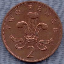 Inglaterra 2 Pence 1989 * Elizabeth Ii *