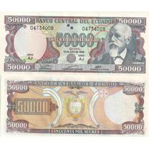 Billete Ecuador 50.000 Sucres Año 1999 Sin Circular