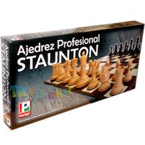Ajedrez Profesional Stauton Tablero Piezas Grandes Plastigal