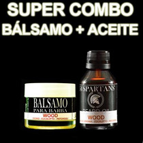 Combo Aceite Para Barba + Bálsamo - Wood