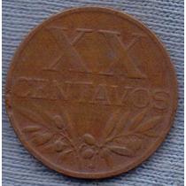 Portugal 20 Centavos 1958 * Republica * Cruz *