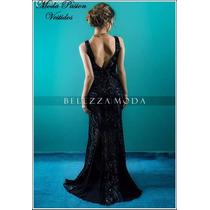 Vestido De Noche Sirena Lentejuelas Sexy Espalda Moda Pasión