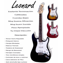 Guitarra Eléctrica Stratocaster Leonard + Funda Acolchada