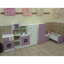 Juego De Rincon De Jardin Dormitorio Cocina Casita Infantil