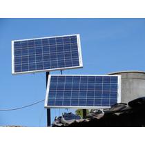 Kit Panel Solar P/ Iluminación Toda La Noche Kit Corte Luz