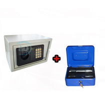 Kit Caja Fuerte Digital 31x20x20 + Cofre Portavalores N°0