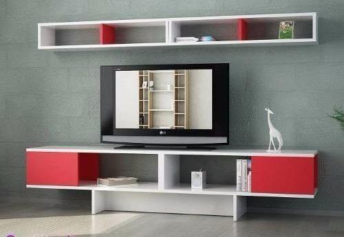 moderna mesa para tv lcd melamina modelo pisa