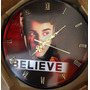 Reloj En Disco De Vinilo De Justin Bieber Believe