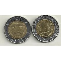 Moneda San Marino 500 Lira Año 1996 Bimetalica Hegel