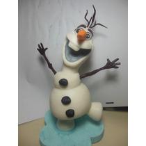 Olaf,frozen En Porcelana Fría Para Tu Torta!