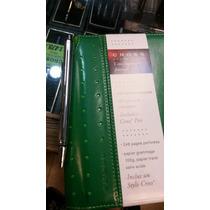 Boligrafos Cross Mini Con Anotador Rayado Chico Color Verde