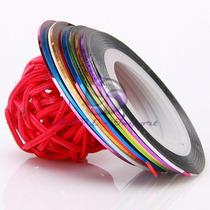 Cintas X10 Striping Tape Nail Art Decoracion Esculpidas