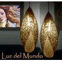 Lámparas De Hilo. Exclusivas!! Diseño Capullo $360 El Par.