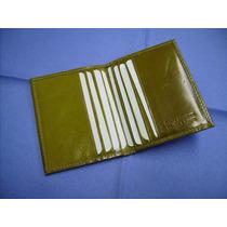 Porta-tarjetas De Crédito - Tipo Libro - 100% Cuero- Mujer