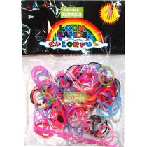 Gomitas Pulsera Loom Bands X 150 Unid En Colores Surtidos