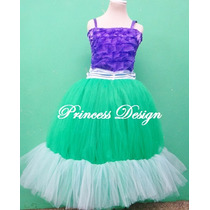 Disfraz Princesa Ariel La Sirenita Vestido Tutu