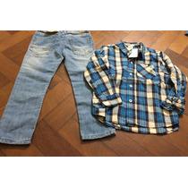 Set Jean + Camisa Marca Cheeky Varon Talle 4 Nuevo