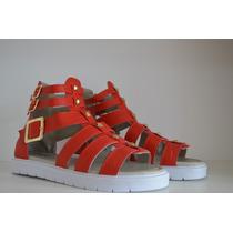 Zapatos Sandalia Romana 3 Tiras Y Tachas Envio Gratis Caba