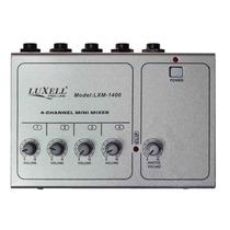 Mini Mixer 4 Canales Micrófonos Y Linea Luxell By Dancis