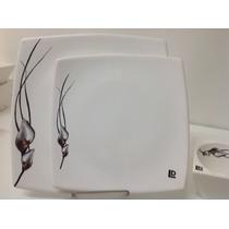 Platos Playos Cuadrados De Diseño -26cm X 26cm-