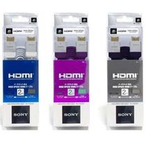 Cable Hdmi Sony Premium Full Hd 1080p 3d Ps3 Led Ficha Oro