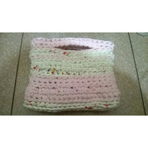 Cartera Tejida A Crochet En Totora