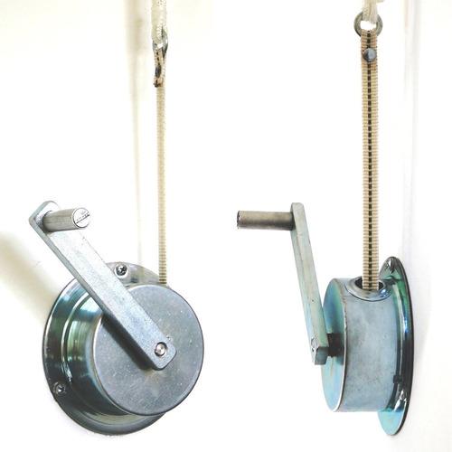 Mecanismo elevador a manivela tendedero tender techo for Roldanas para toldos