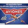 Kit Imprimible Aviones Fiesta Cumpleaños Torta Recuerdo