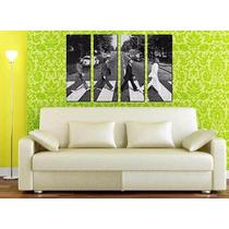 The Beatles Abbey Road - Impreso En Tela Canvas 100x150 Cm