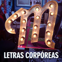 Letras Corpóreas Marquesina Luces Chapa Acero Eventos Fiesta