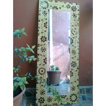 Espejo Venecitas Y Gemas. Decoracion. 1.10x45