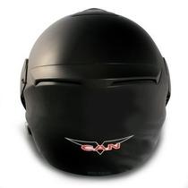 Casco Can Modelo V210 Rebatible Negro Mate
