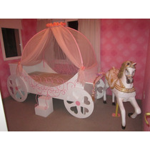 Cama Infantil Diseño Carroza De Princesa Loreley Mobel