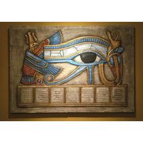 Cuadro En Relieve Ojo De Horus Con Siete Principios Kybalion