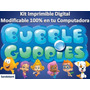 Kit Imprimible Candy Bar Bubble Guppies Fiesta Cumpleaños
