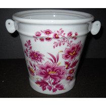 Antigua Hielera Porcelana Dresden Motivo Floral (064f)