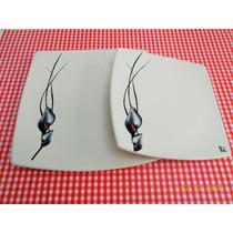 Platos Cuadrados De Cerámica - Vajilla De Diseño -