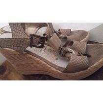 Zapatos Sandalias Viamo Cuero Vacuno Con Dijes Numero 37