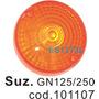 Suzuki Gn125 Gn250 Gs750 Acrilico Faro Giro