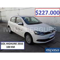 Volkswagen Vw Gol Trend 5 Puertas Highline 100km Espasa