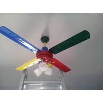 Lu-ce´s Vende Ventilador Multicolor 10 Años Gtía Con 3 Luces