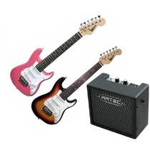 Combo Guitarra Eléctrica Niño + Amplificador 10w+ Accesorios