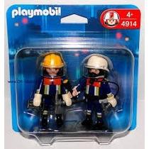 Playmobil Dos Figuras -4124 - 4914 -importado Original