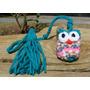 Buho Crochet Amigurumi Colgante Señalador Libro Decoración