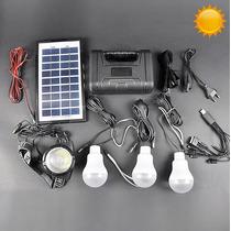 Kit Solar Portatil Panel Bater Lamparas Linternas Carga Celu