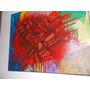 Oleo Abstracto Original Tela Firmado Y Certificado Año 1995