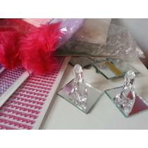 Souvenirs 15 Años 50 Zapatito ,50 Espejos ,50 Plumas Chicas
