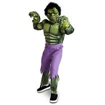 Disfraz Disney Store El Increíble Hulk. Completo. Talle 4/6