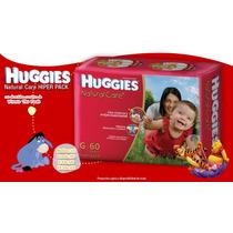 Pañales Huggies Natural Care Hiperpack Mx68 4 Paquetes